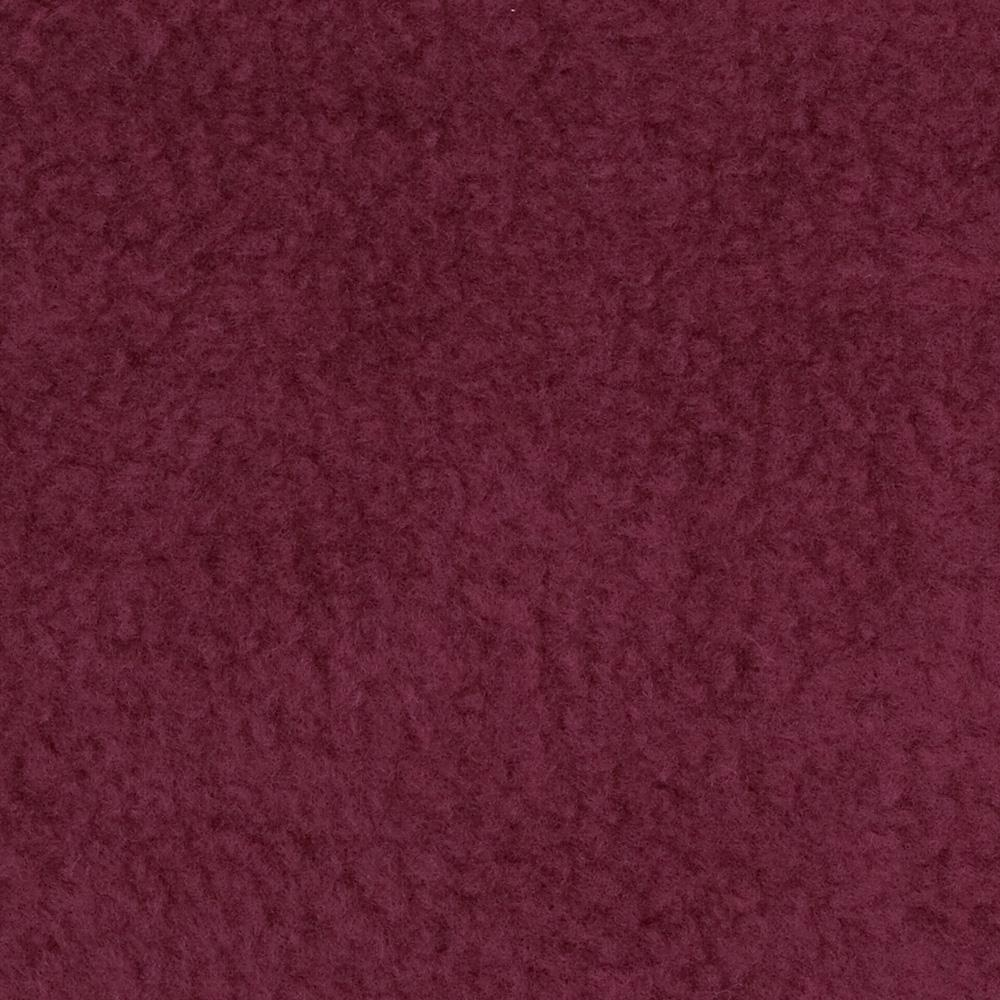 Warm Winter Fleece Solid Burgundy Fabric