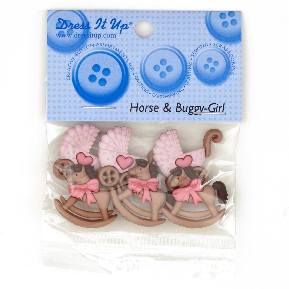 Dress It Up Embellishment Buttons Horse & Buggy