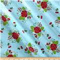 Riley Blake Sew Cherry 2 Laminate Aqua