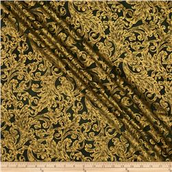 Warm Wishes Metallic Damask Hunter/Gold