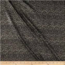 International Designer Double Knit Crackle Metallic Black/Pyrite