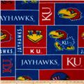 Collegiate Fleece University of Kansas Football Blue