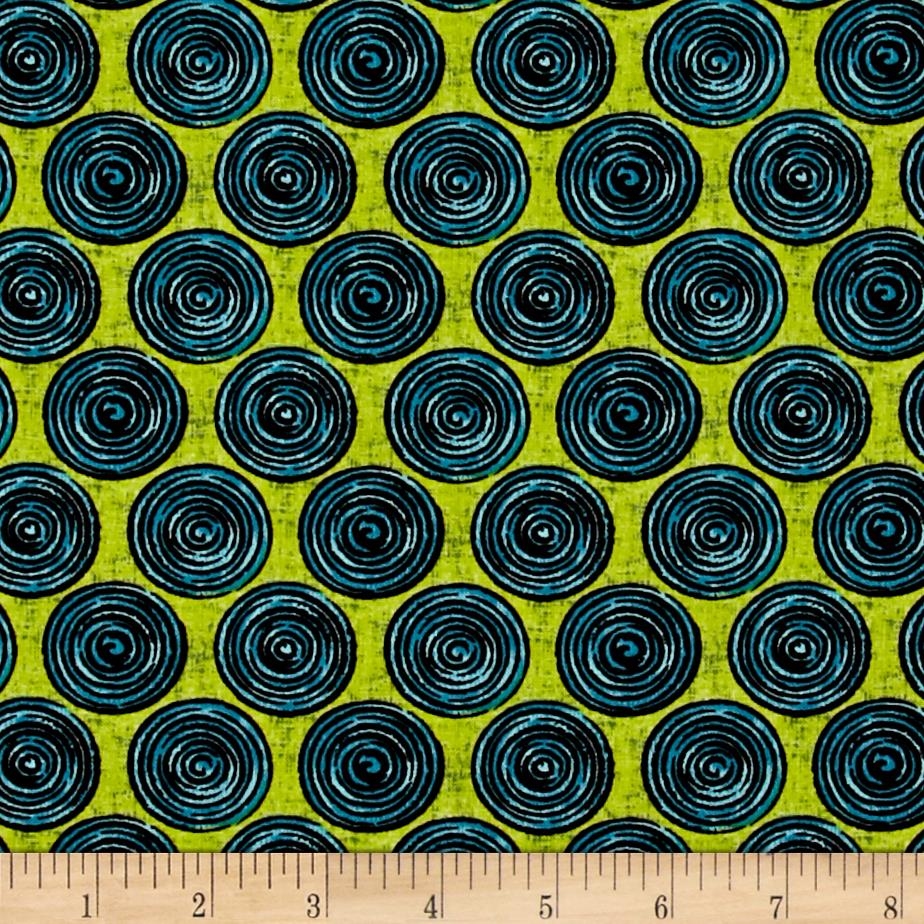 Urban Oasis Spiral Dot Lime/Teal