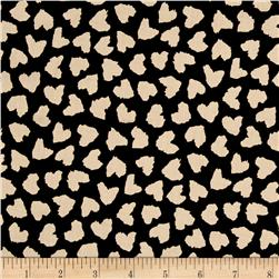 Rayon Chalils Abstract Hearts on Black