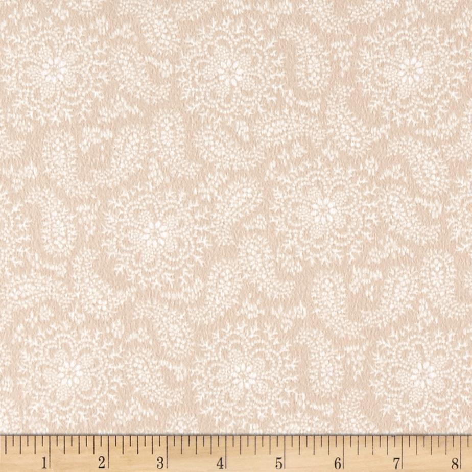 Cozies Flannel Paisley Flower Tan Fabric By The Yard