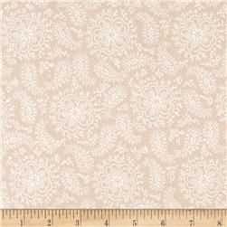Cozies Flannel Paisley Flower Tan