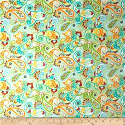 Fleece Prints Paisley Mint