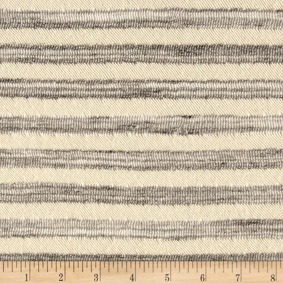 Designer Double Knit Stripe Grey