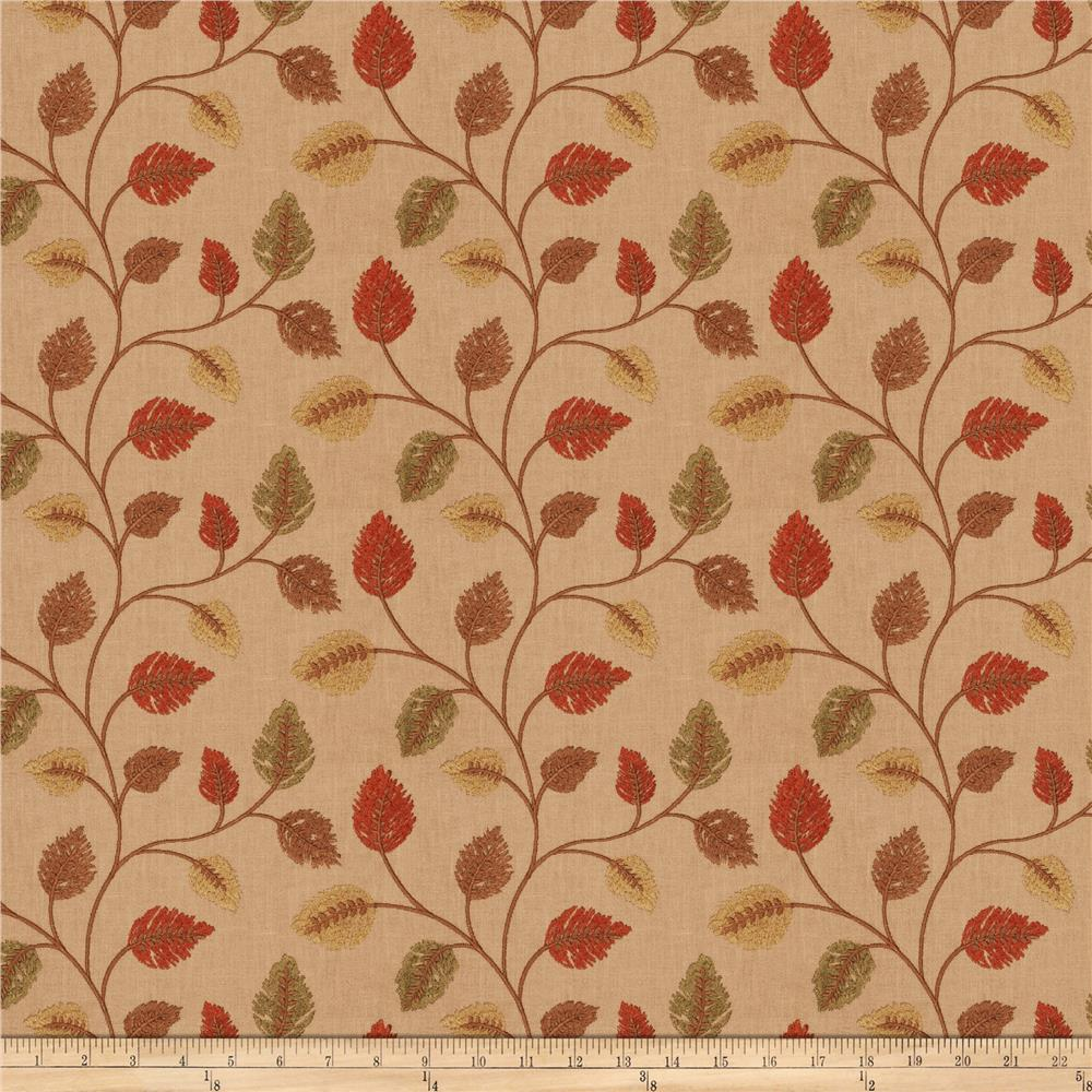 Fabricut Betting Leaves Autumn Discount Designer Fabric