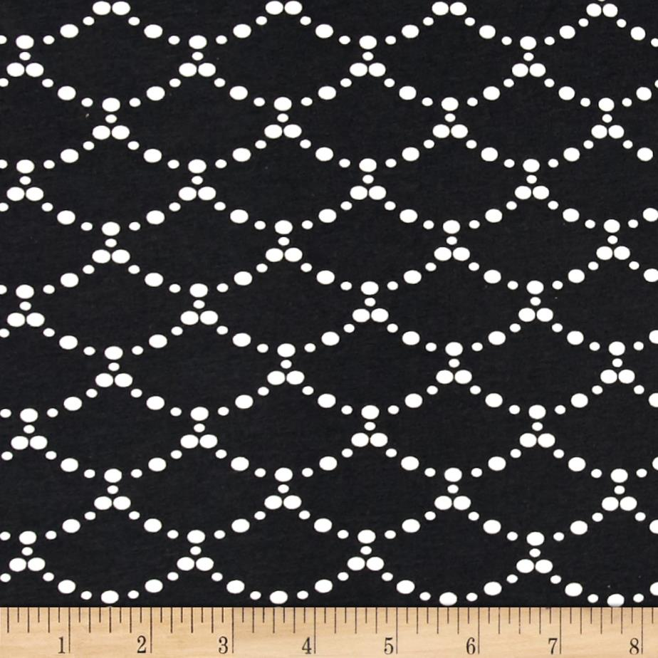 Art Gallery Millie Fleur Jersey Knit Ripples Black Fabric