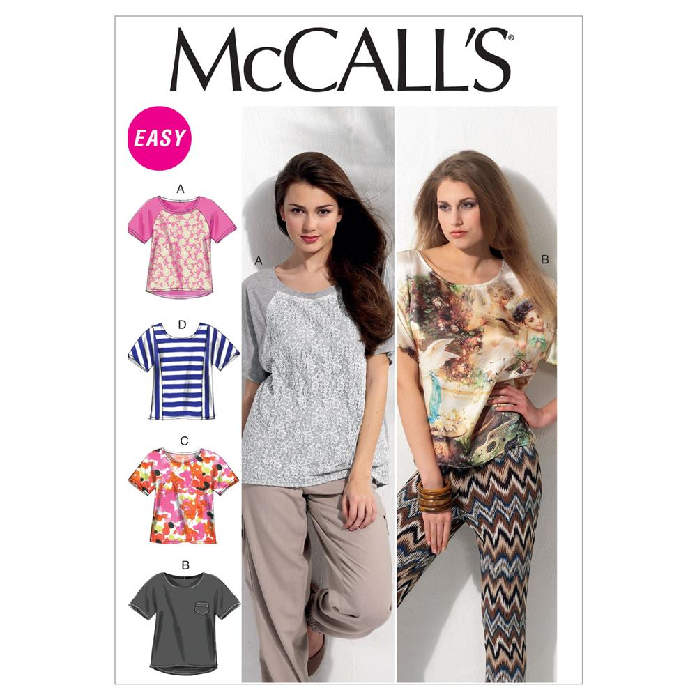 McCall's Misses' Tops Pattern M6566 Size 0Y0