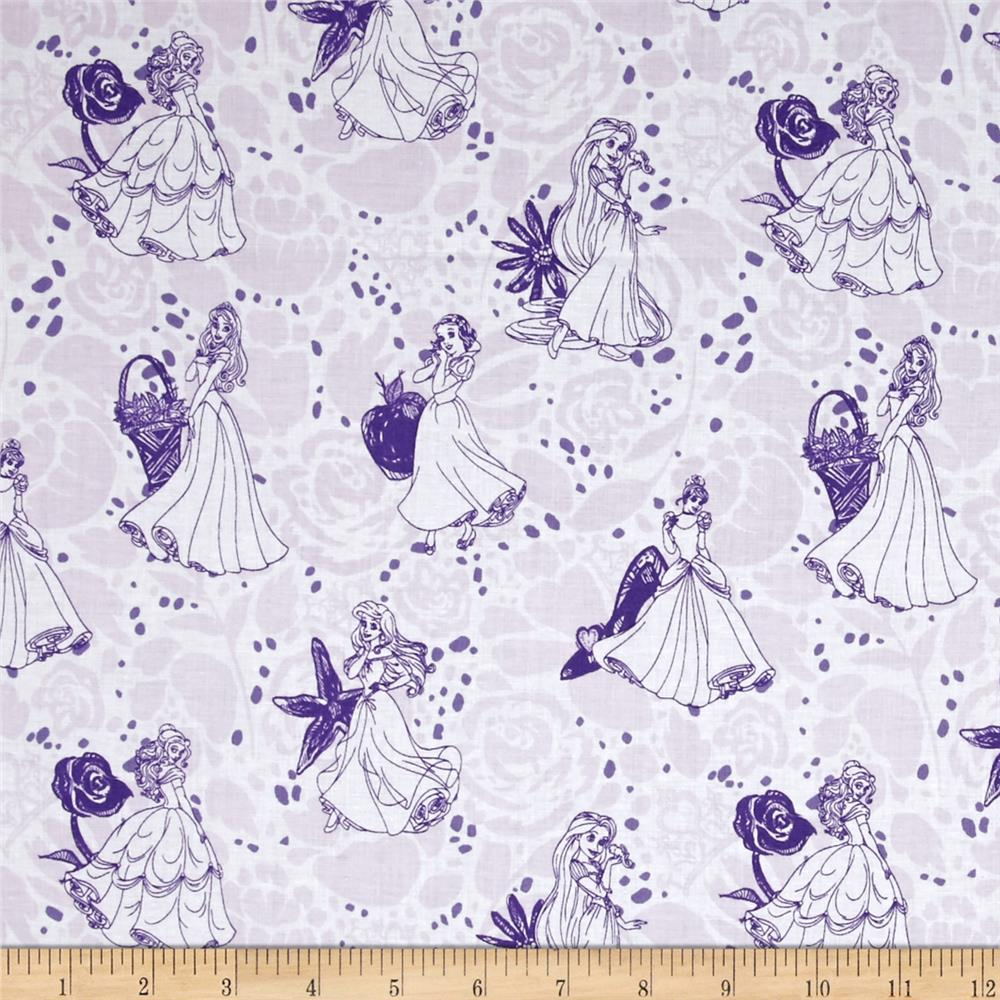 Disney Princess Line Drawing Purple