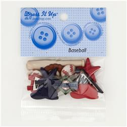 Dress It Up Embellishment Buttons  Baseballs