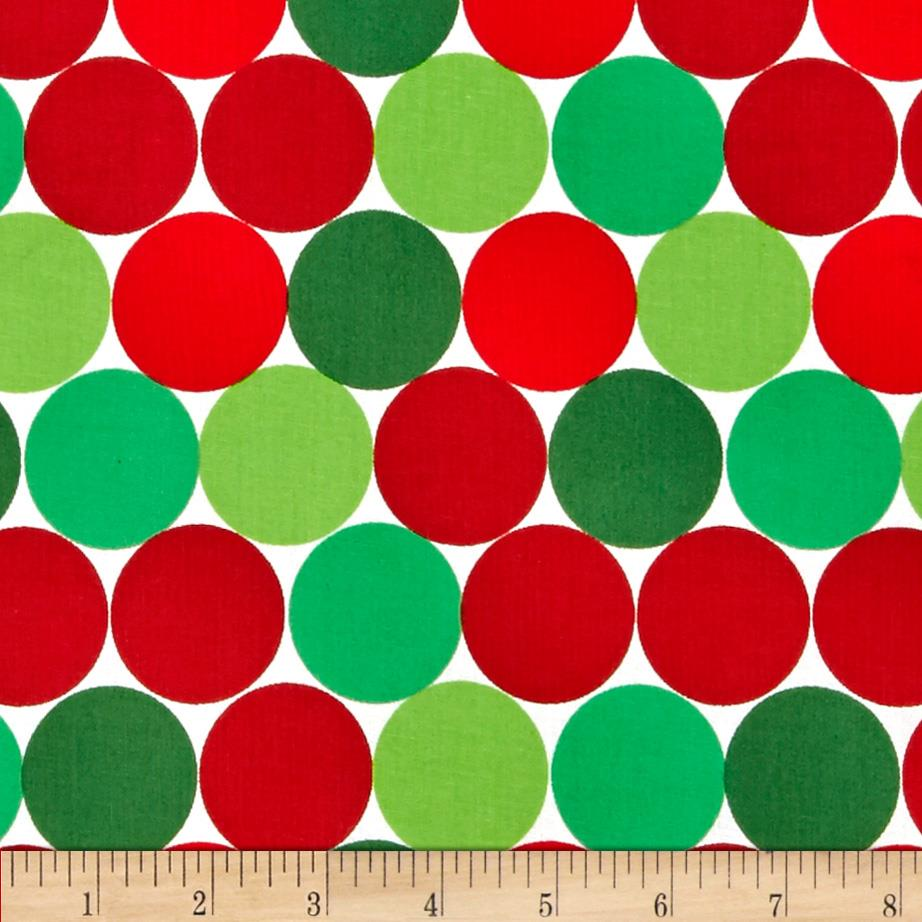 Christmas Basics Big Dots Red/Green