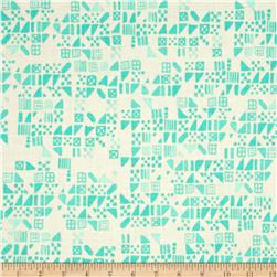 Cotton & Steel Clover Tiny Tiles Aqua