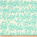 Cotton + Steel Clover Tiny Tiles Aqua