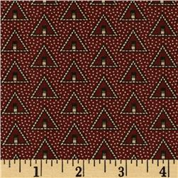 Molly B's Studio Decorative Triangles Burgundy