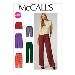 McCall's Misses' Shorts and Pants Pattern M6843 Size 0Y0