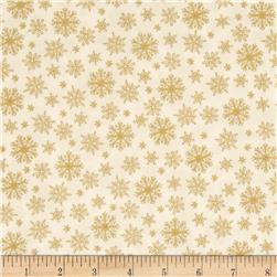 Grace Metallic Snowflakes Gold