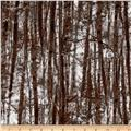 Kanvas Into the Woods Flannel Forest Trees Brown