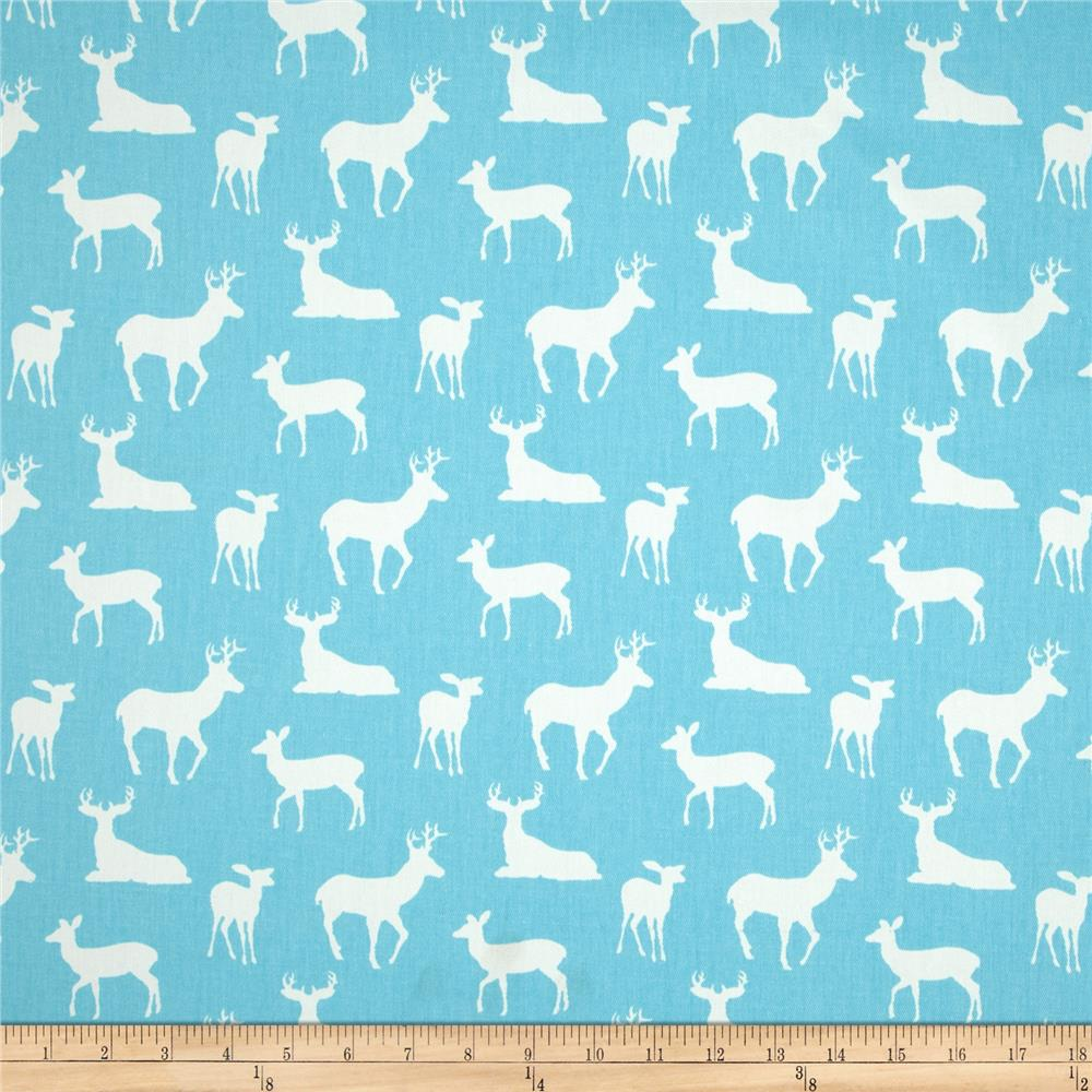 Premier Prints Deer Silhouette Girly Blue