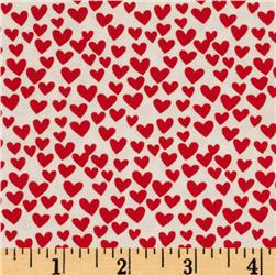 Timeless Treasures Hearts Red Fabric