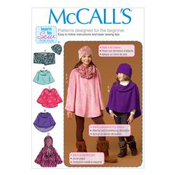 McCall's Children's/Girls' Ponchos, Hat and Scarf Pattern M7012 Size CZ0