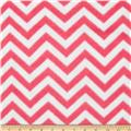 Fleece Chevron Bubble Gum/White