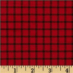 Lumberjack Flannel Checkered Red