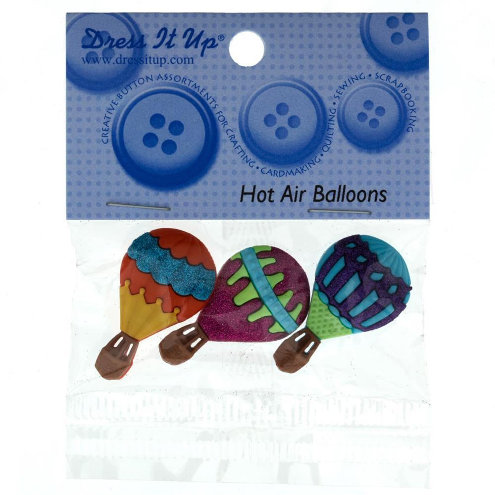Dress It Up Embellisment Buttons  Hot Air Ballons