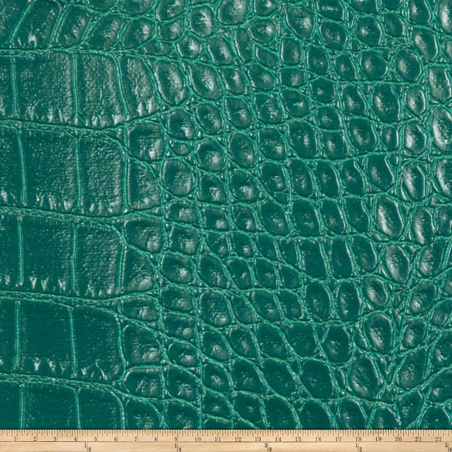 Fabricut aluminum faux leather teal discount designer for Fabric cloth material