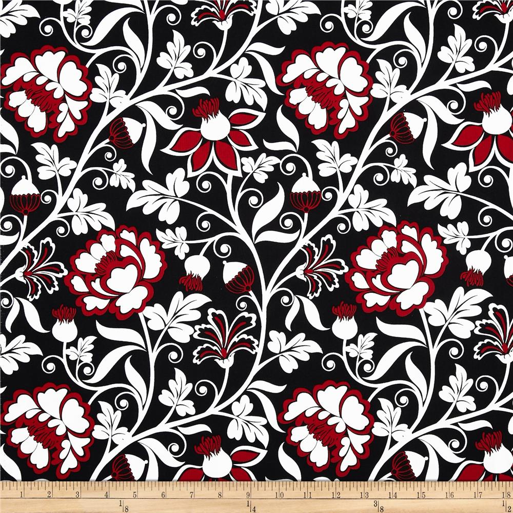Timeless Treasures Nouveau Rouge Jacobean Red