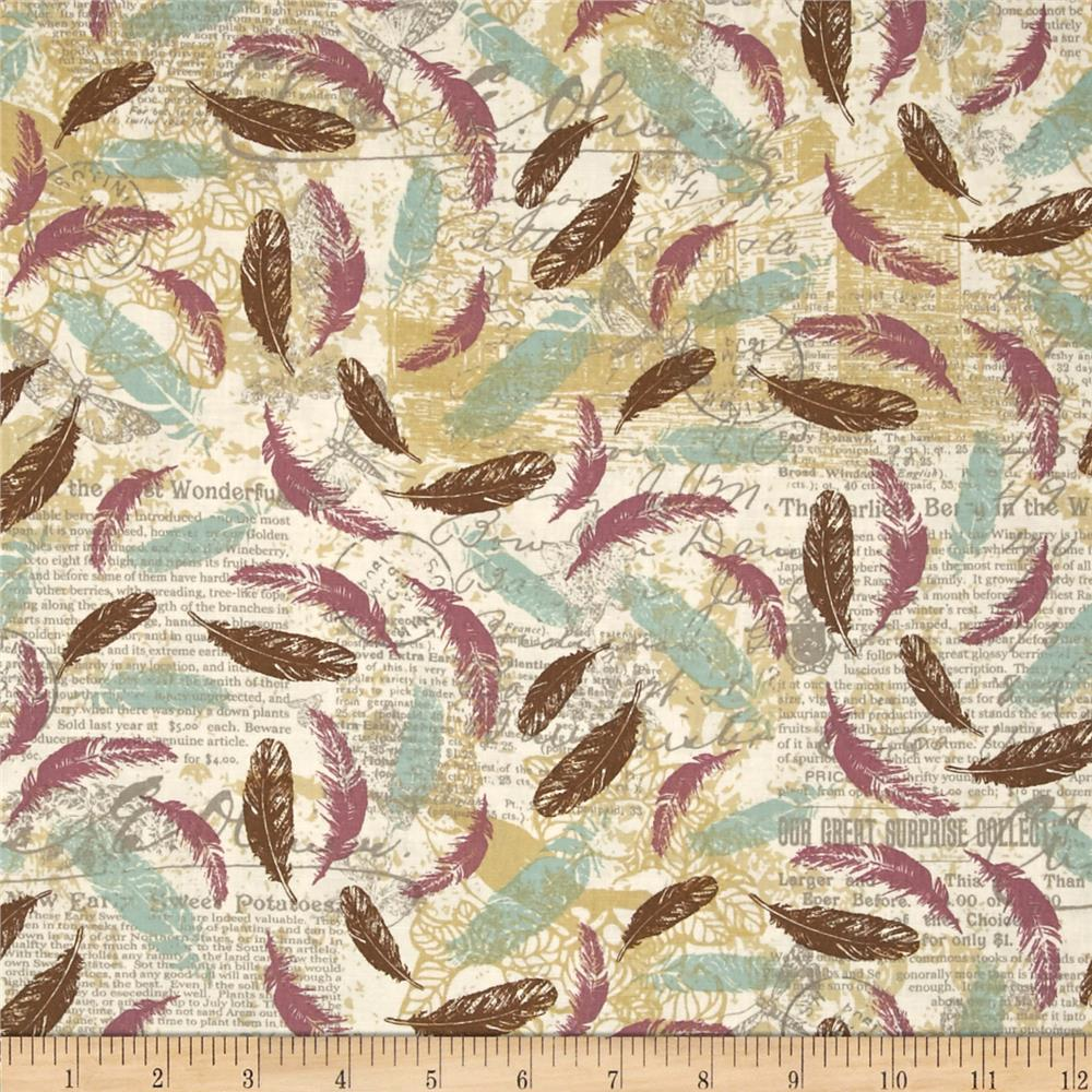 Moda once upon a chicken feathers aloft eggshell for Fabric purchase
