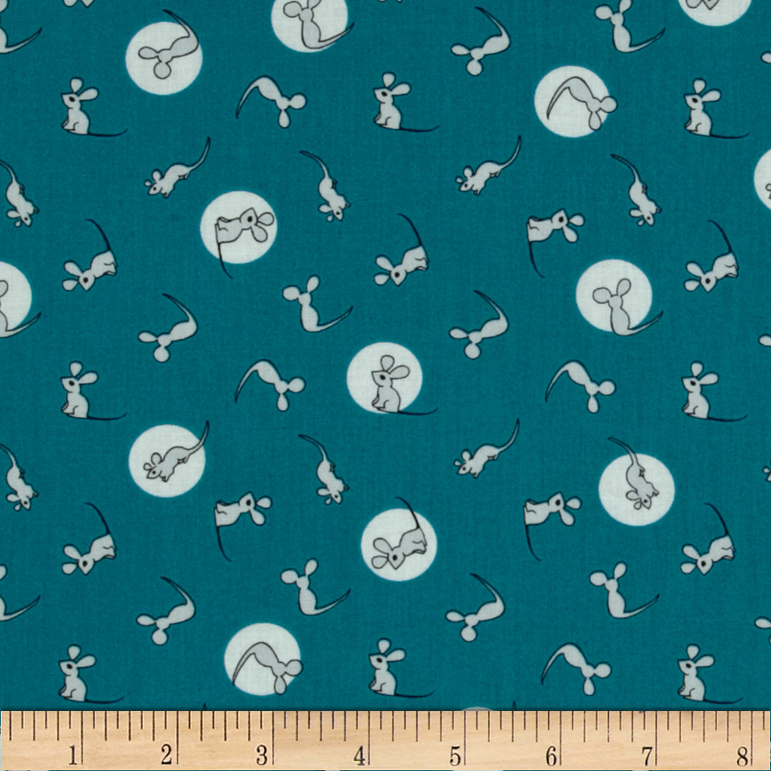 Goodnight Moon Organic Mouse Blue Fabric