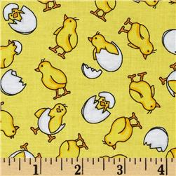 Kanvas Fowl Play Baby Chicks Yellow