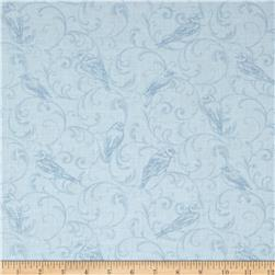 Bluebird Gathering Scroll Tonal Light Blue