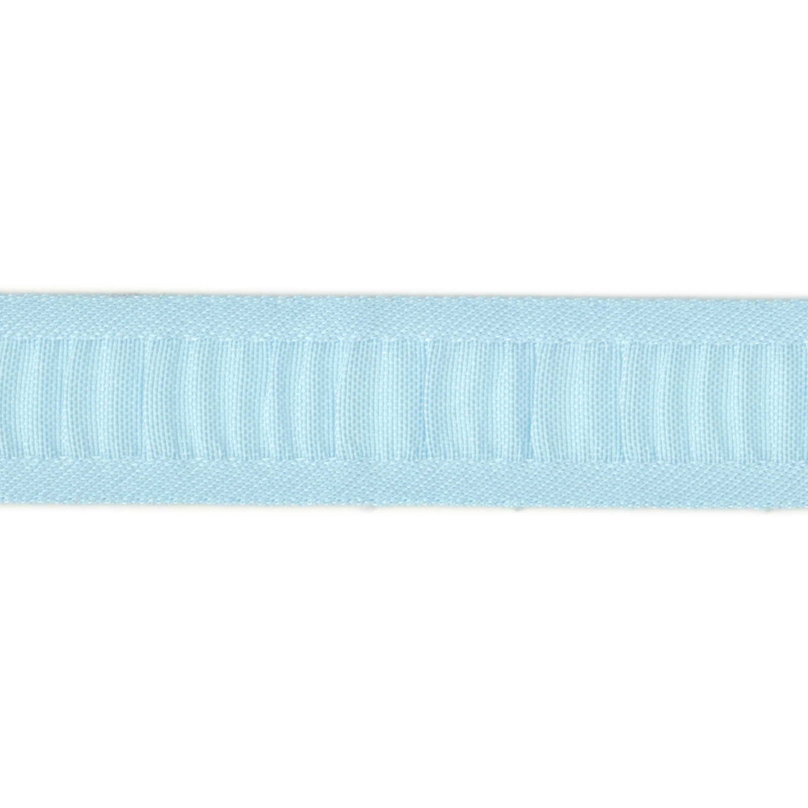 7/8'' Ruched Ruffle Satin Edge Ribbon Light Blue