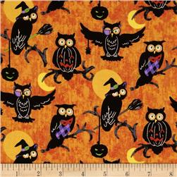 Halloween H'owl Hoot Owls Orange