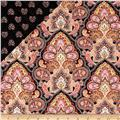 Morristown Double Faced Quilted Floral Peach