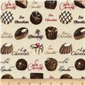 Timeless Treasures Chocolates Cream
