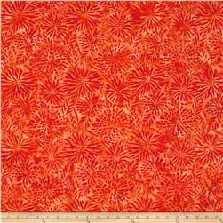 Benartex Balis Batik Color Pop Dahlia Persimmon
