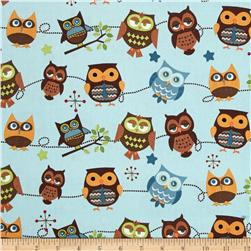 Riley Blake Home Decor Hoot Roll Call Sky Blue