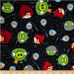 Angry Birds Fence Black Fabric