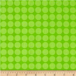 Large Dots Tone on Tone Lime Fabric