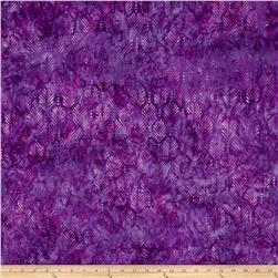 Batavian Batik Palm Texture Purple