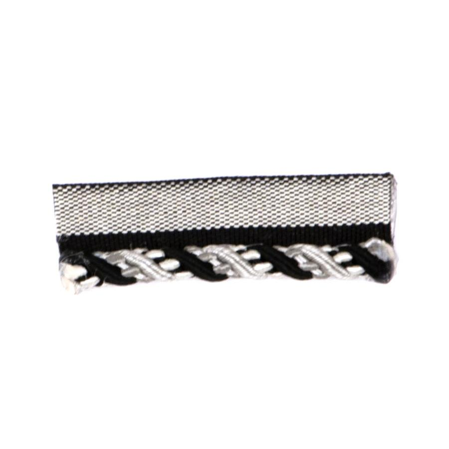 "Fabricut 2"" Cruise Cord Trim Black Pepper"