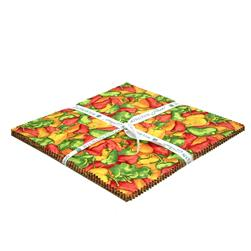 "Caliente Peppers 10"" Squares"