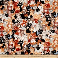 Kanvas Kitty Galore Kitty Collage Neutral