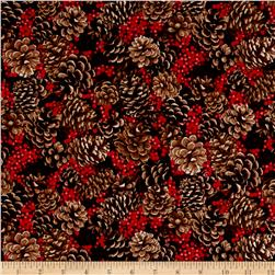 Merry, Berry & Bright Metallic Pine Cones Aplenty Radiant Berry