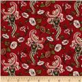 Cottage Garden Vintage Floral Red